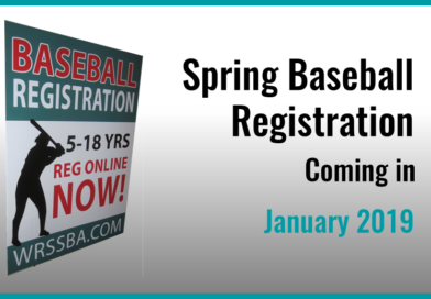2019 Spring Baseball Registration … Coming in Early January