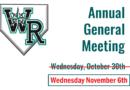 2019 Annual General Meeting – Wednesday Nov 6th